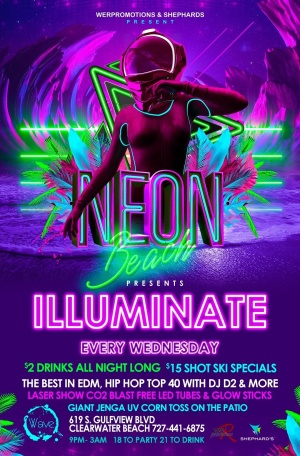 Neon Beach Presents ILLUMINATE, Wednesday, May 29th, 2019