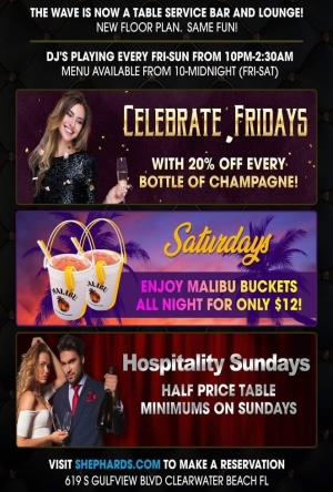 Celebrate Fridays @ The Wave, Friday, September 25th, 2020