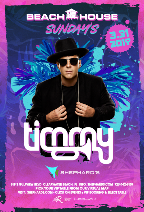 Timmy Trumpet at Beach House Sundays 3-31-19 - Tiki Beach