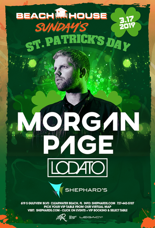 Morgan Page and Lodato at Beach House Sundays ST Paddy's Day Party - Tiki Beach