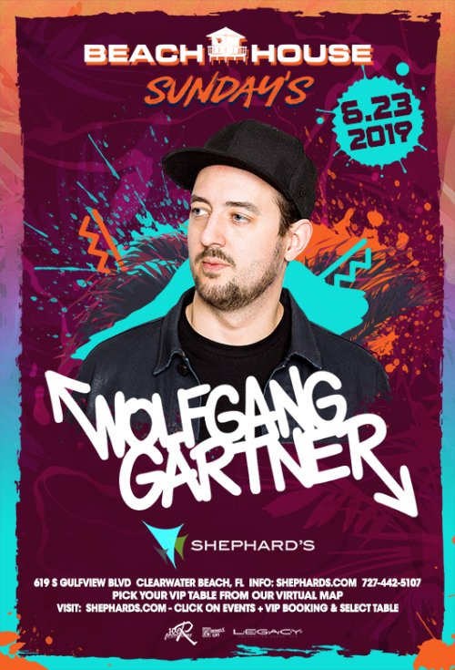 Wolfgang Gartner at Beach House Sundays 6-23-19 - Tiki Beach