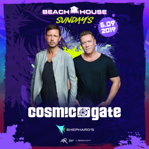 Cosmic Gate at Beach House Sundays, Sunday, June 9th, 2019