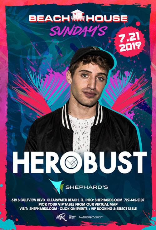 Herobust at Beach House Sundays - Tiki Beach