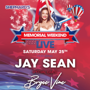 Jay Sean, Bryce Vine, AJ Mitchell, NOTD at Shephard's Memorial Day Weekend Party 2019, Saturday, May 25th, 2019