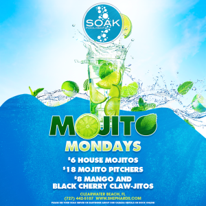 Mojito Monday @ Soak Pool Bar, Monday, July 6th, 2020