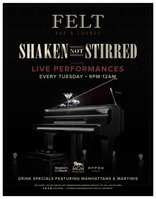 Shaken not Stirred - FELT Bar & Lounge