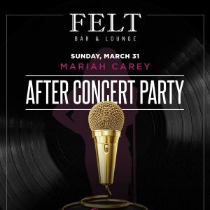 Mariah Carey: After Concert Party, Sunday, March 31st, 2019