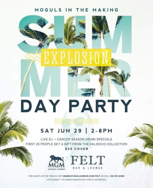 Summer Explosion Day Party - FELT Bar & Lounge