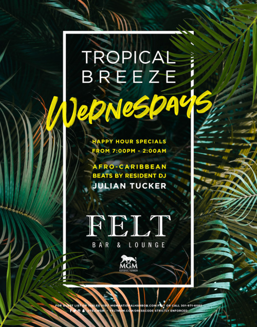 Tropical Breeze Wednesday's - FELT Bar & Lounge