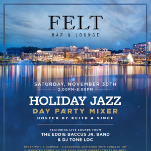 Holiday Jazz Day Party, Saturday, November 30th, 2019
