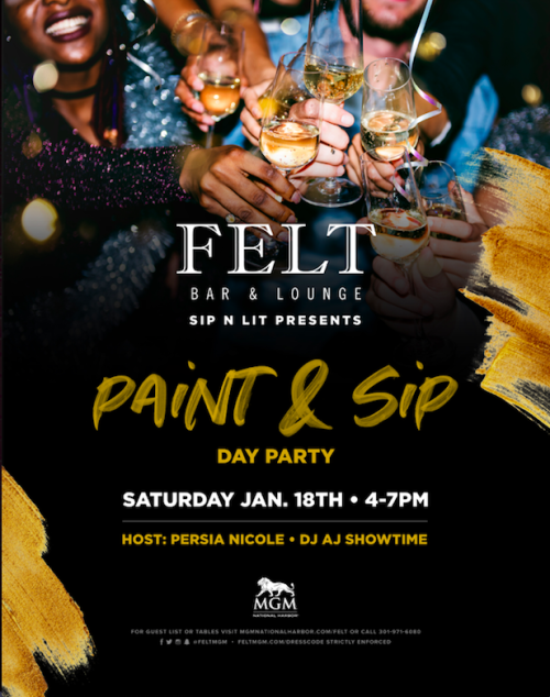 Sip and Lit Trap and paint party - FELT Bar & Lounge